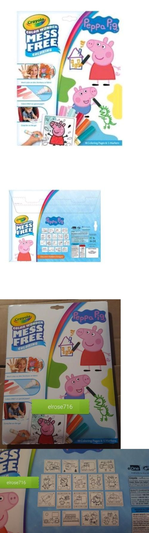 Drawing and Painting 160717: Crayola Color Wonder Peppa Pig~Includes 18Pgs And 5 Markers~For