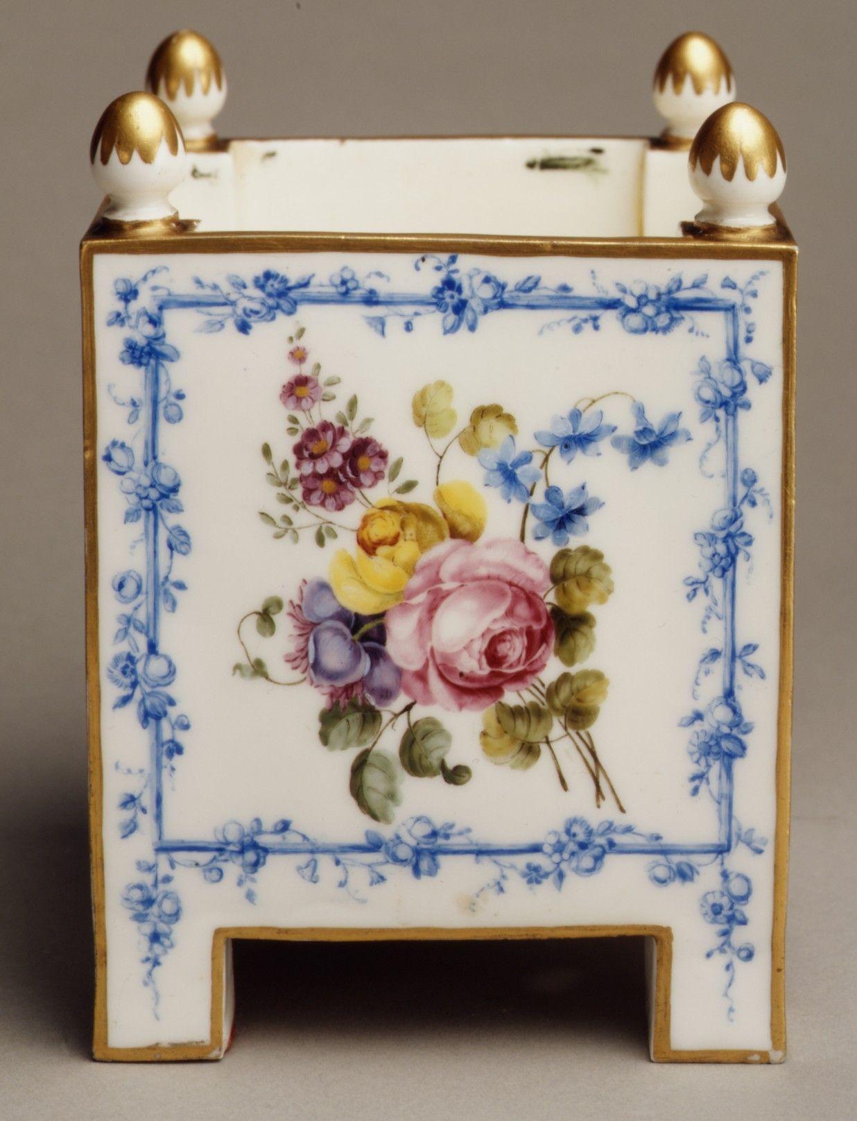 Sèvres Manufactory | Pair of flower pots (caisses carrés) | French, Sèvres | The Metropolitan Museum of Art