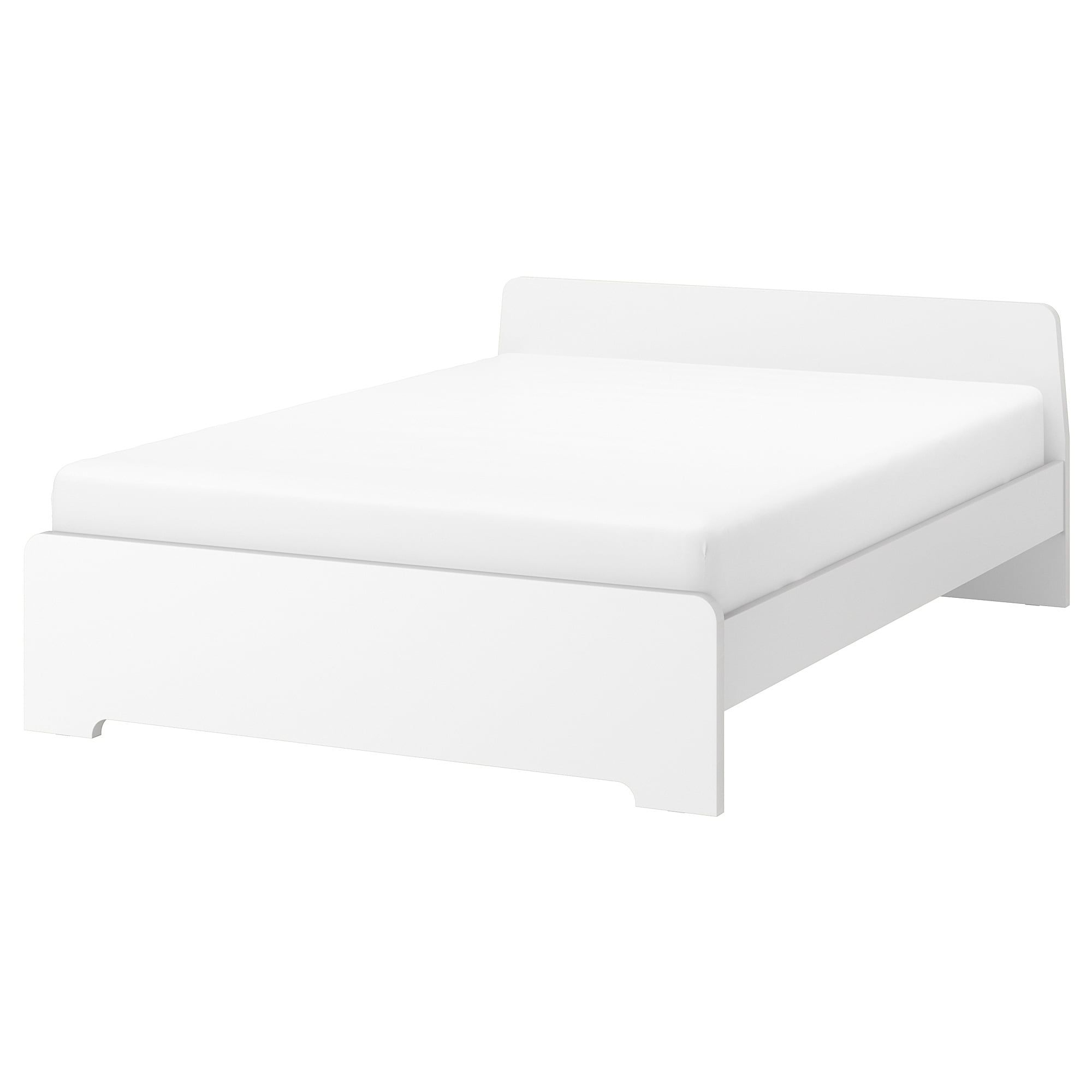Askvoll Bedframe Wit Luroy 140x200 Cm Ikea In 2020 Bed Frame With Storage Bed Frame Malm Bed Frame