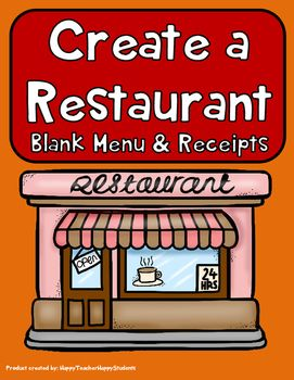 create your own restaurant menu math activity jase s playhouse