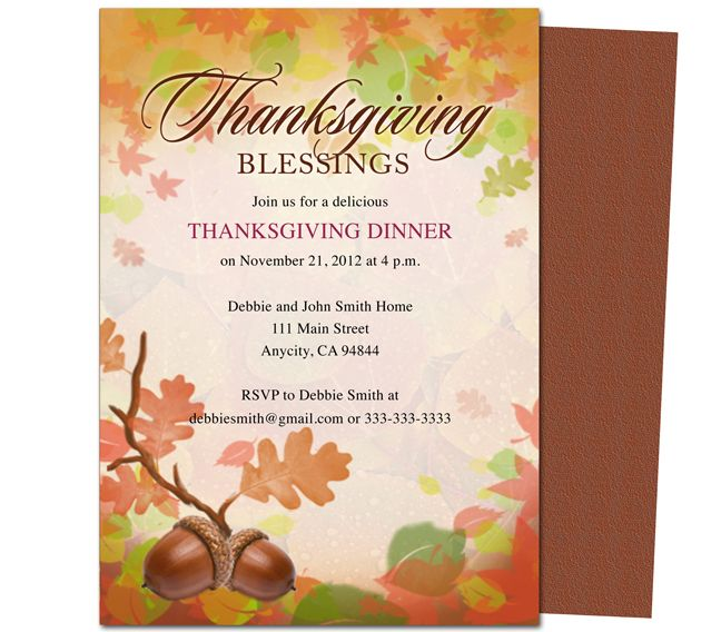Thanksgiving+Party+Invitation+Templates Fall Pinterest - free dinner invitation templates