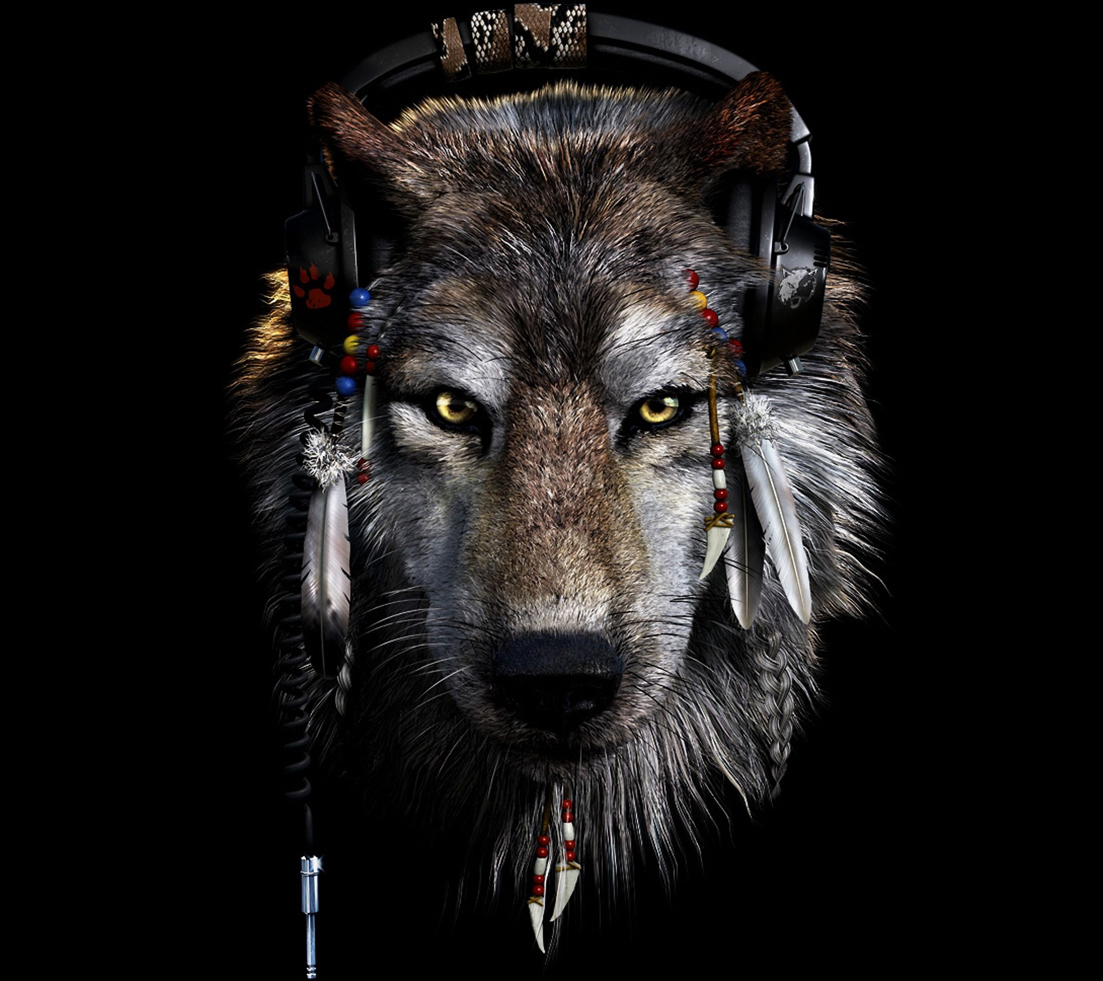 Hd wallpaper wolf - Dark Wolf Wallpapers Wallpaper