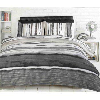 grey+duvet+cover | ... › Bedding › Duvet Covers › Woodstock Grey Striped Duvet Cover