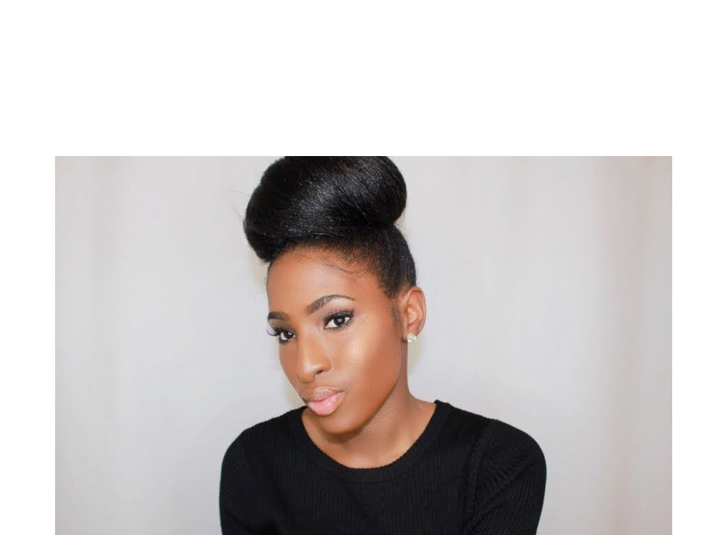 Ninja bun quick and easy elegant hairstyle for naturals and