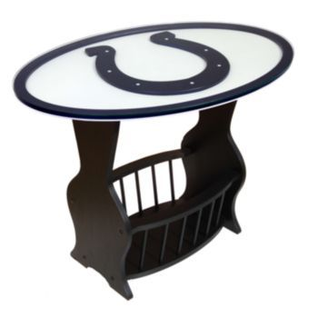 Indianapolis Colts End Table 3D Cutout Glass On Top... Kohls $240