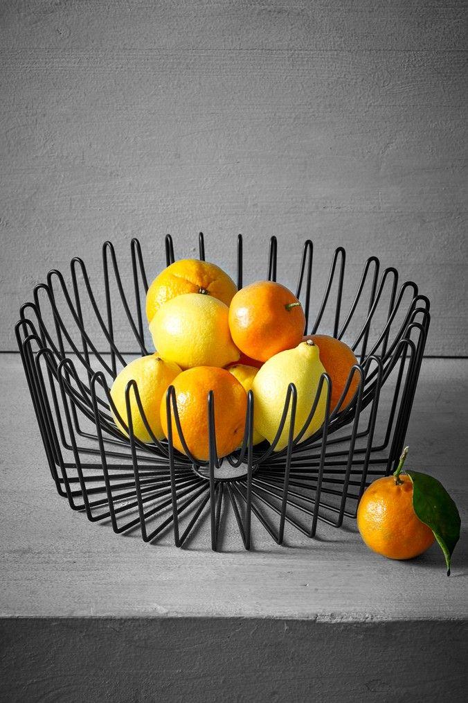 Next Black Wire Fruit Bowl Black Fruit bowl
