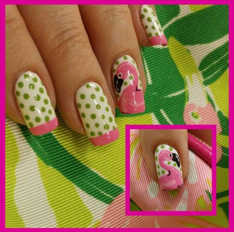 Flamingo nails | nails & makeup | Pinterest | Manicuras y Flamenco