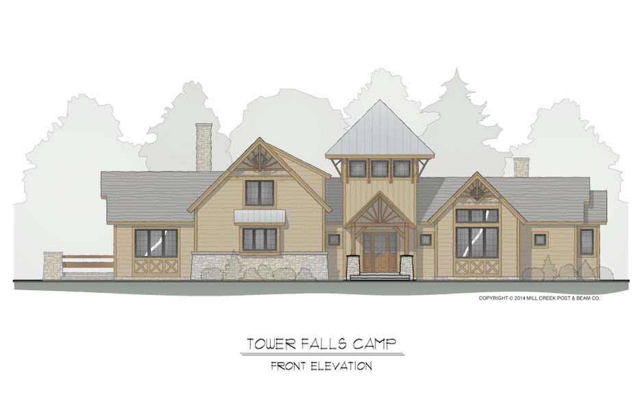 Tower Falls Camp Timber Frame Cottage   Mill Creek Post and Beam ...