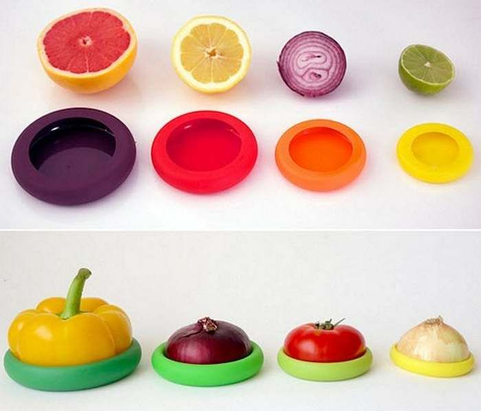 Food Huggers Silicone Storage Cover 44 Creative Kitchen Gadgets You Probably Don T Know Exist