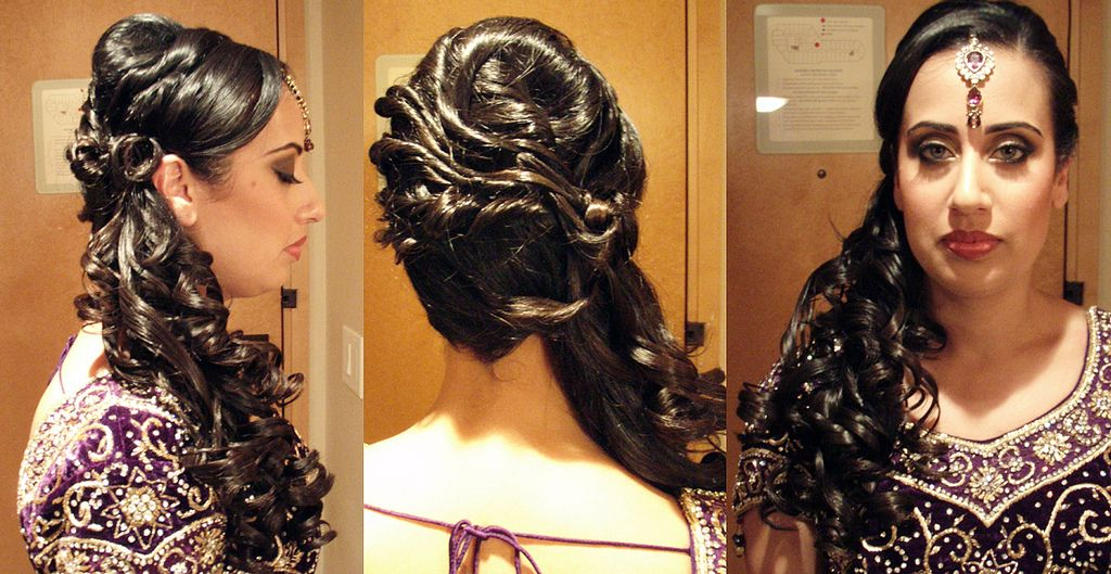 Bridal Hairstyle Pics For Mehndi : Curly side ponytail hair pinterest indian bridal hairstyles