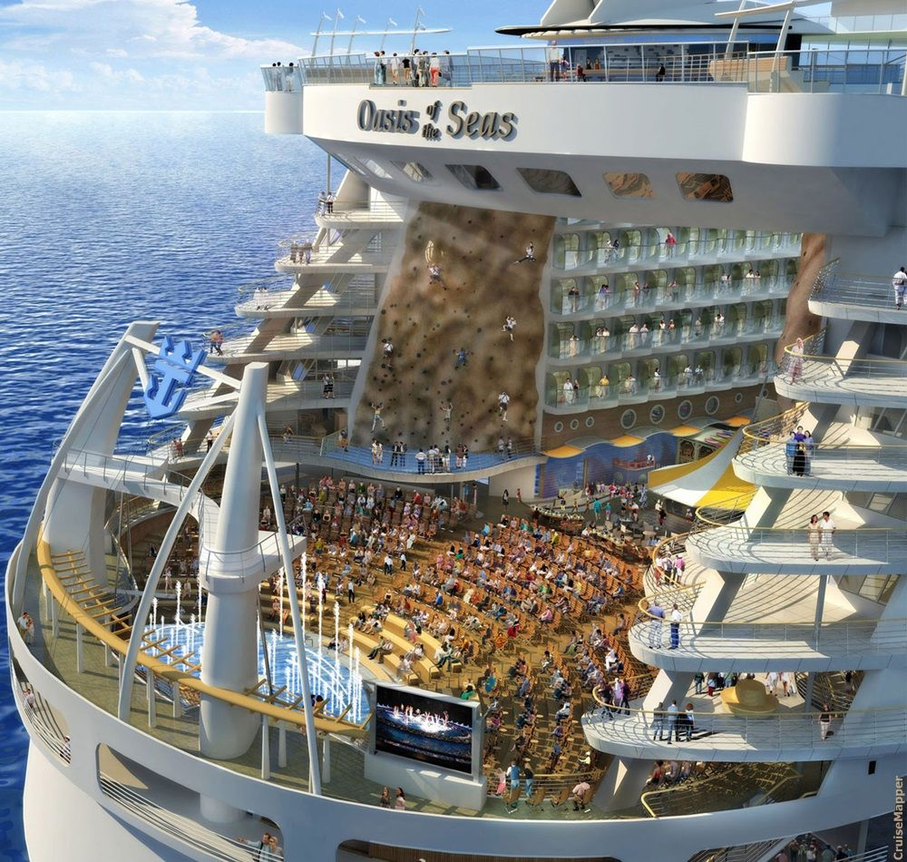 Royal Caribbean Oasis class ships Aqua Theater
