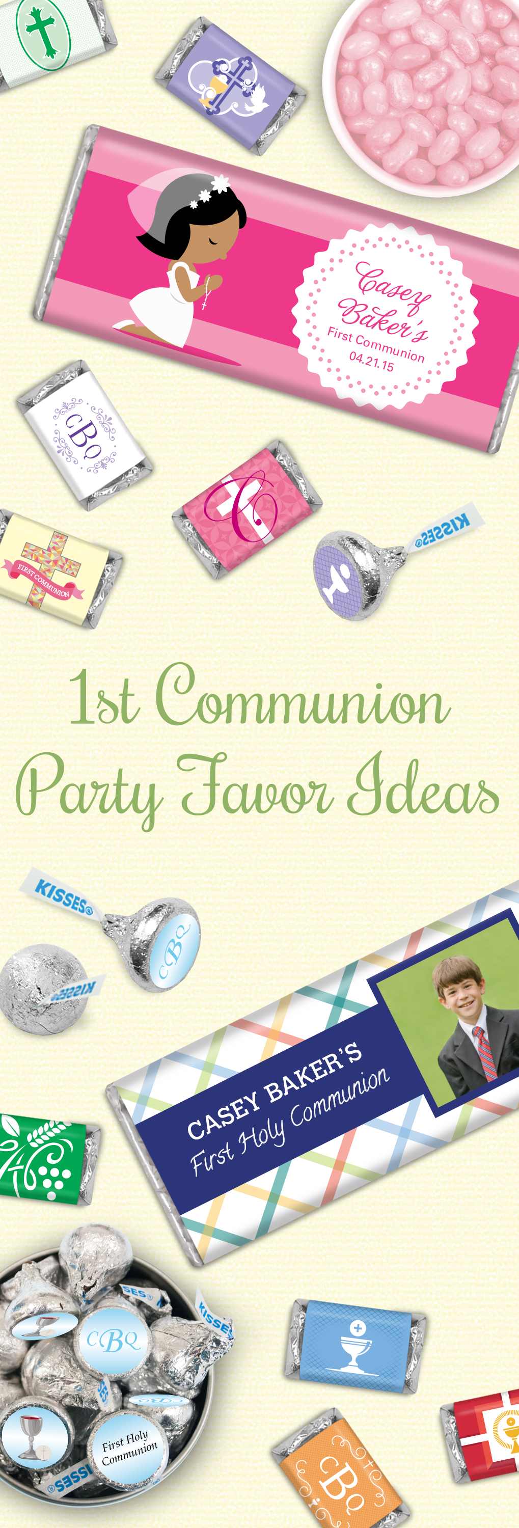 First munion Party Favor Ideas for Boys and Girls Personalized