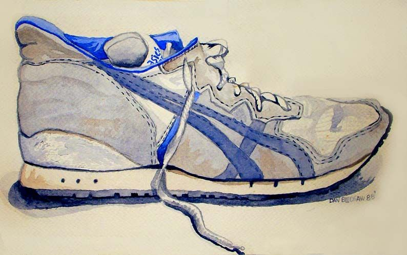A watercolor painting entitled \