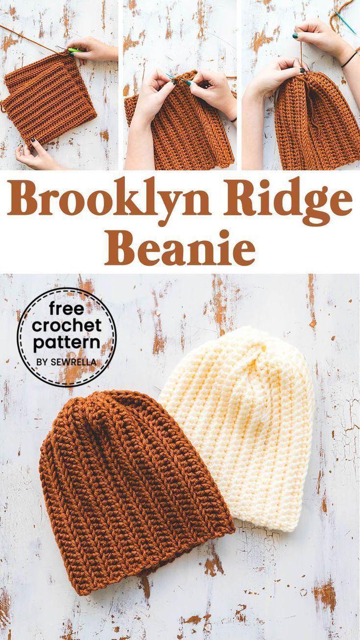 Einfach häkeln Brooklyn Ridge Hat  Muster frei  Sport und Frauen #crochet patterns free beginner easy hat Einfach häkeln Brooklyn Ridge Hat – Muster frei – Sport und Frauen - Handwerk #kleinerbalkon