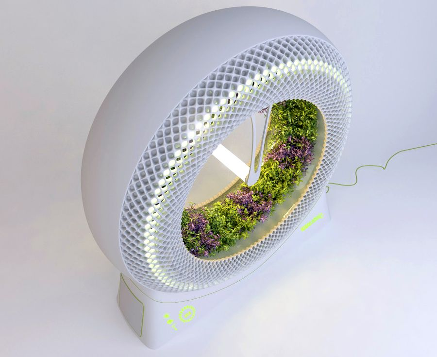 Revolutionary Green Wheel Hydroponic Garden Grows Food Faster With NASA  Technology