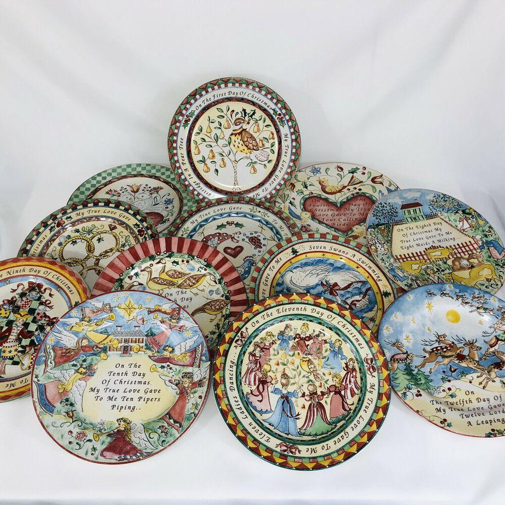 12 Days Of Christmas Plates Complete Set Twelve