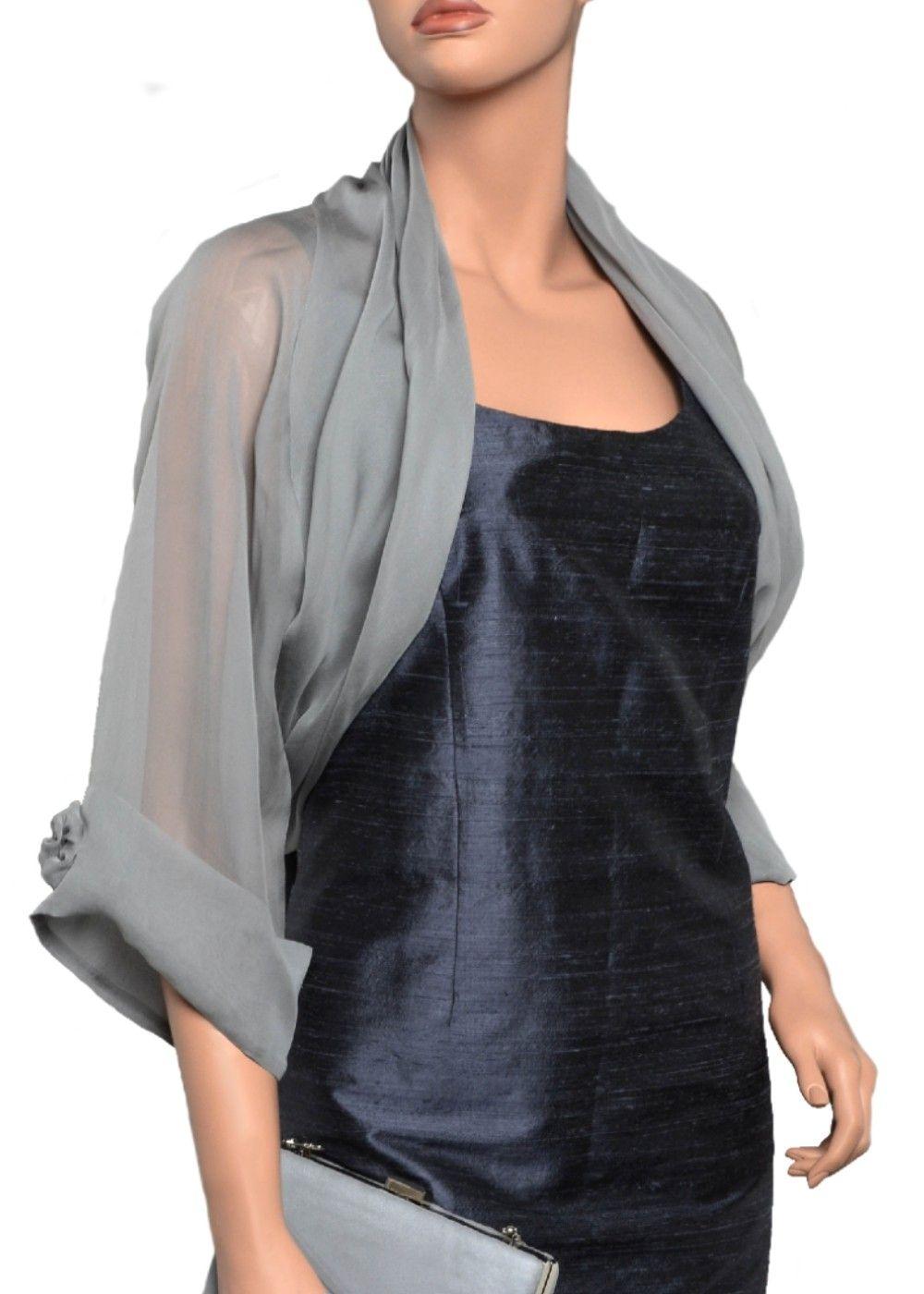 Silk chiffon evening bolero jacket. Sizes from Extra Small ...