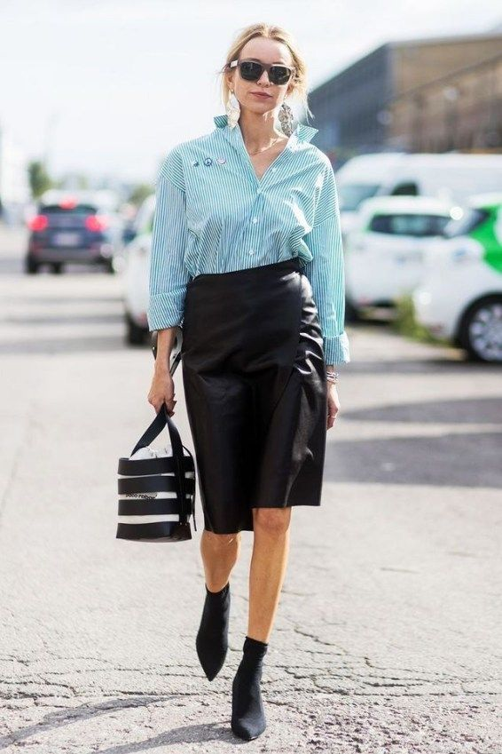 51 Elegante schwarze Outfits mit Bleistiftrock | Rock ...