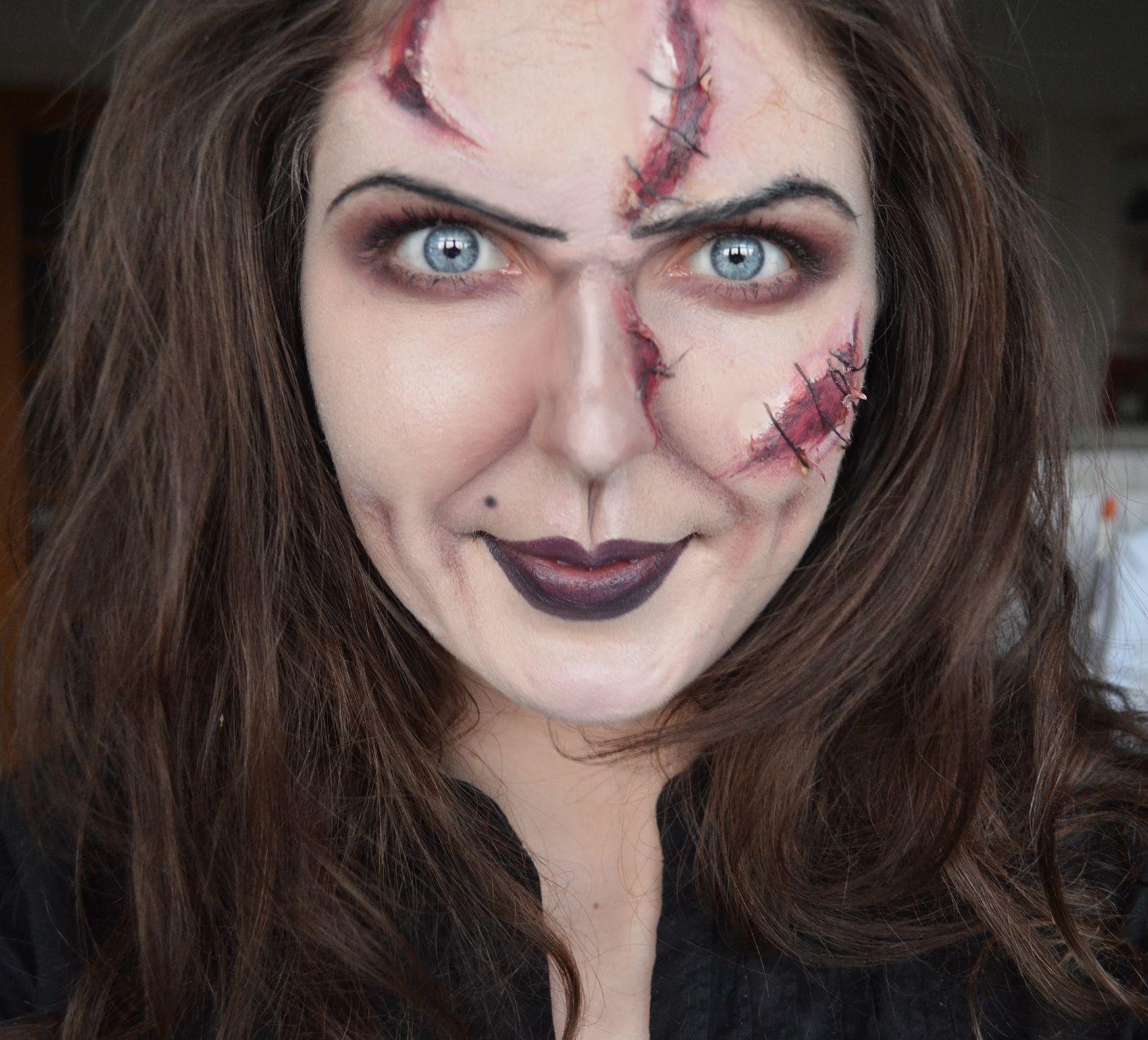 Bride of Chucky halloween makeup facepaint | halloween | Pinterest ...