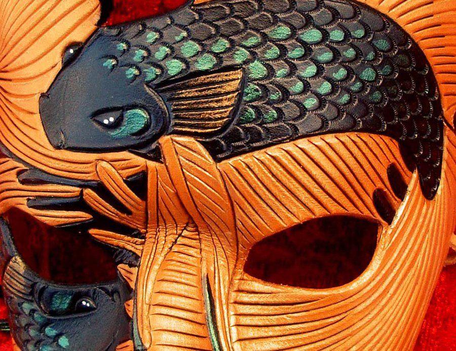 Detail of Chocolate Fighting Fish Mask by merimask.deviantart.com on @deviantART