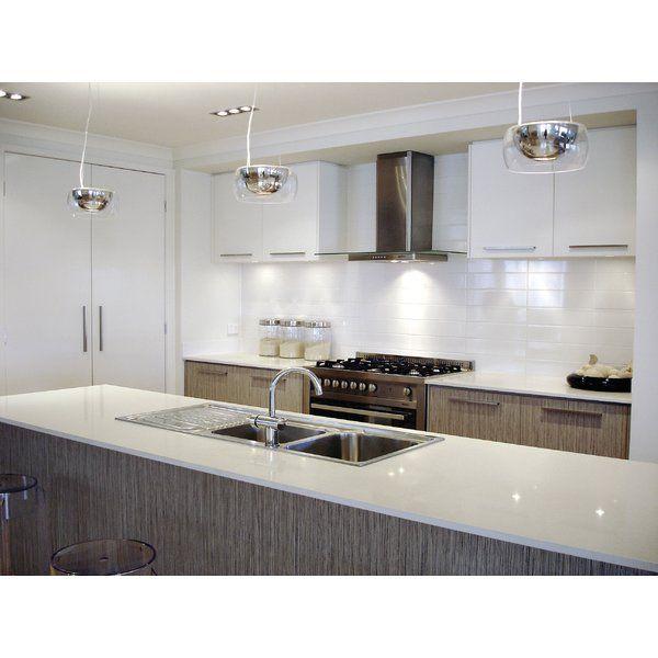 "10 X 16 Kitchen Design Sail 4"" X 16"" Ceramic Tile In Glossy White  Herringbone Pattern"