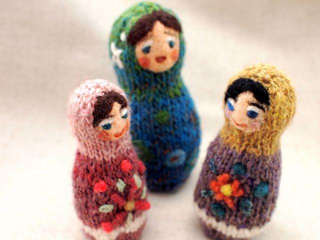 Knitted Matryoshka Dolls   Matryoshka doll, Knitted dolls ...