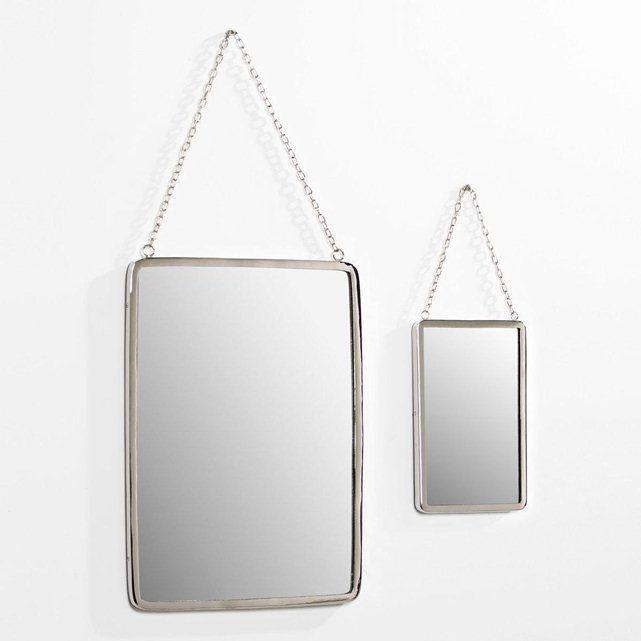 miroir rect grande taille l37 x h52 cm barbier d co pinterest miroir miroir de barbier. Black Bedroom Furniture Sets. Home Design Ideas
