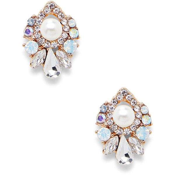 Sole Society Small Pearl Statement Earring ($33) ❤ liked on Polyvore featuring jewelry, earrings, pearl combo, pearl jewellery, pearl earrings jewellery, sole society, studded jewelry and stud earrings