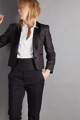 NWOT Emersonmade Emerson Fry Black Silk Linen Tuxedo Blazer Jacket 4