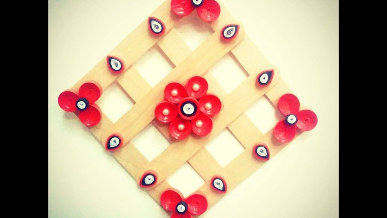 DIY Quilling Paper Wall Hanging/ Popsicle Sticks/Home Decor/Tutorial ...