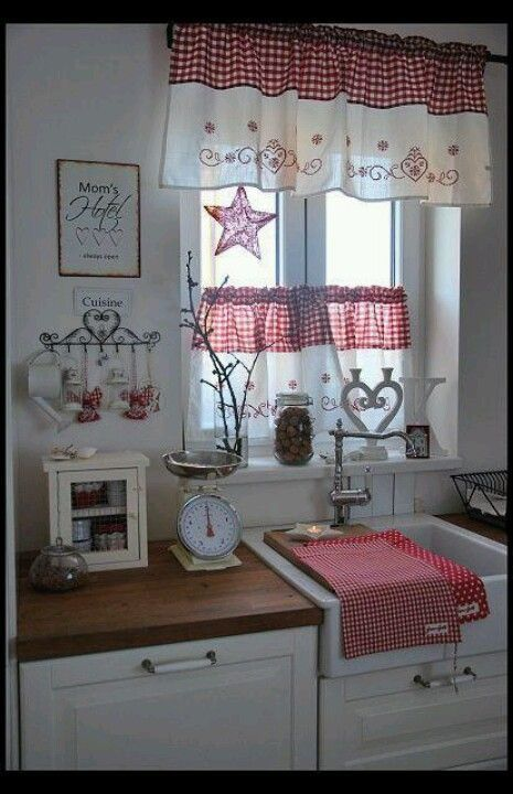 Pin de belinda orbik en kitchen ideas | Pinterest | Cortinas ...