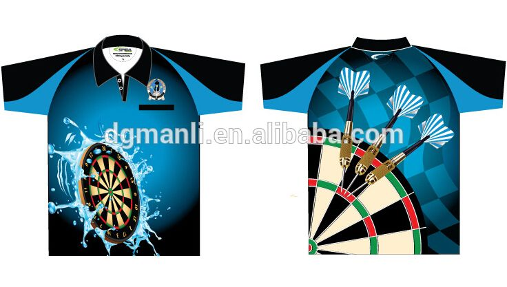 Dart Shirts Sublimation Darts Shirts Polyester Darts Shirts Custom