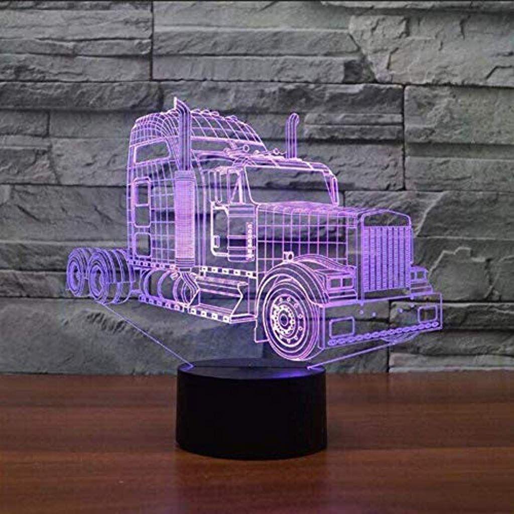 Llzgpzxyd Nachtlicht Led 7 Farben Farbwechsel 3d Lkw Modellierung Auto Tischlampe Schlafzimmer Acryl Beleuchtung Beleuchtung Tischlampen Beleuchtung Nachtlicht