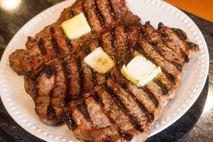 Broiled ny strip steak