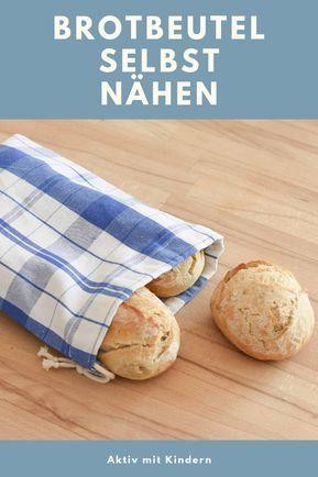 Photo of Baumwollsäckchen / Brotbeutel selbst nähen. Aus alten Küchentüchern. – Aktiv mit Kindern