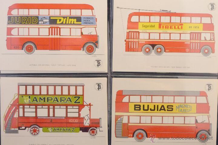 COLECCION COMPLETA 56 POSTALES TB TRANSPORTES DE BARCELONA 1972 POSTAL AUTOBÚS TROLEBÚS TRANVÍA