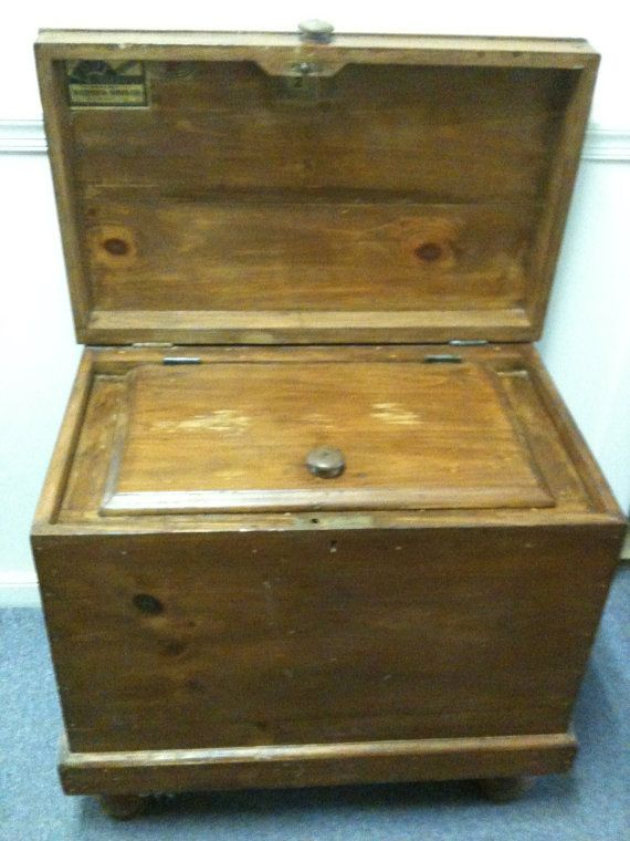 Vintage Wooden Eddy Ice Or Refrigerator Box By