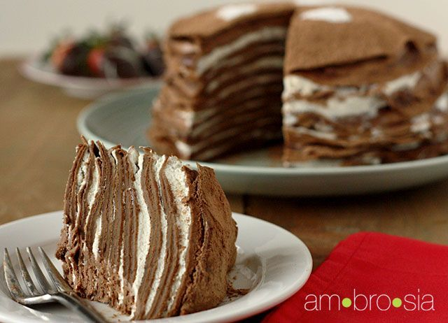 Chocolate Crepe Cake ♥
