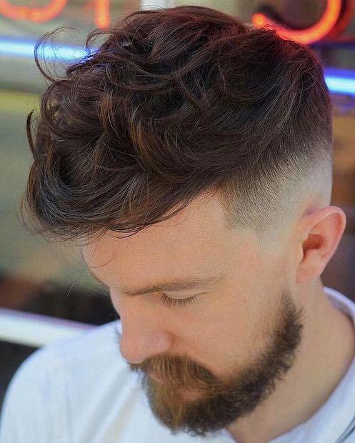 capelli uomo 2018, mossi sfumati