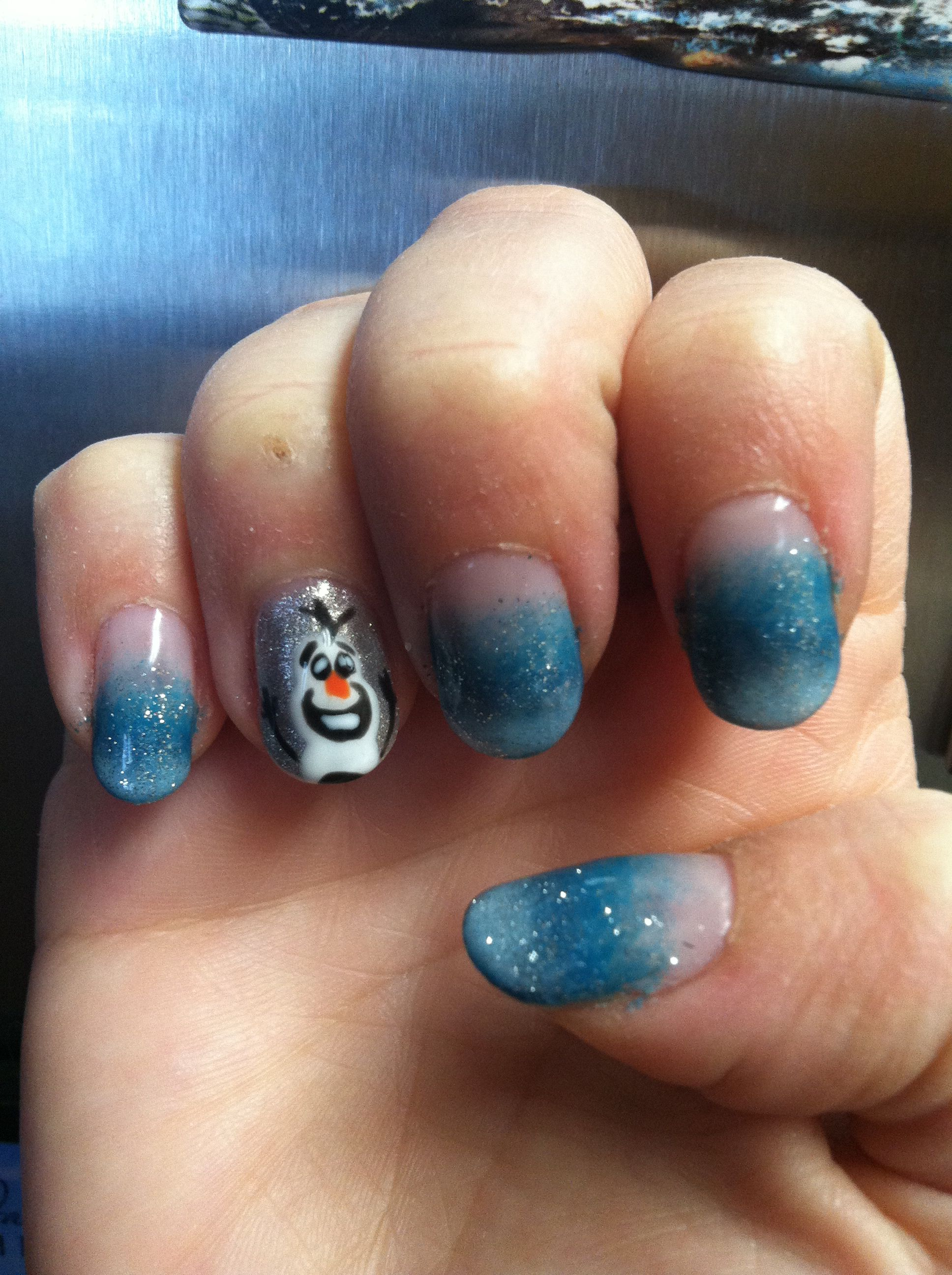 Olaf from Disney\'s Frozen nails #frozen #olaf #nailart | Nail Art ...