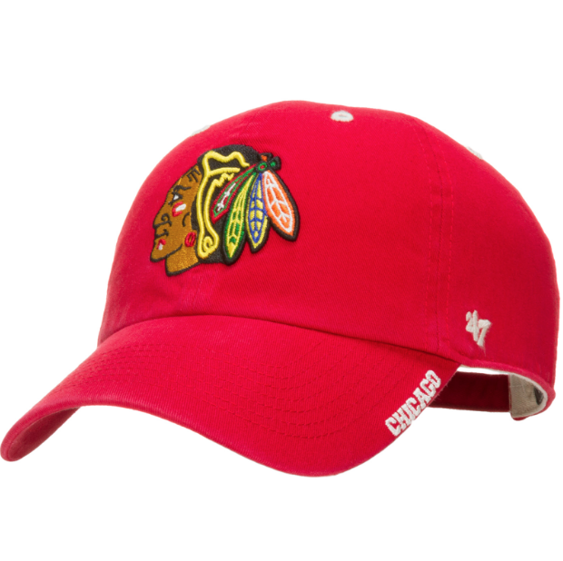 a9a663a9c8eaa 47 Brand Chicago Blackhawks Men s Red Ice Clean Up Adjustable Hat ...