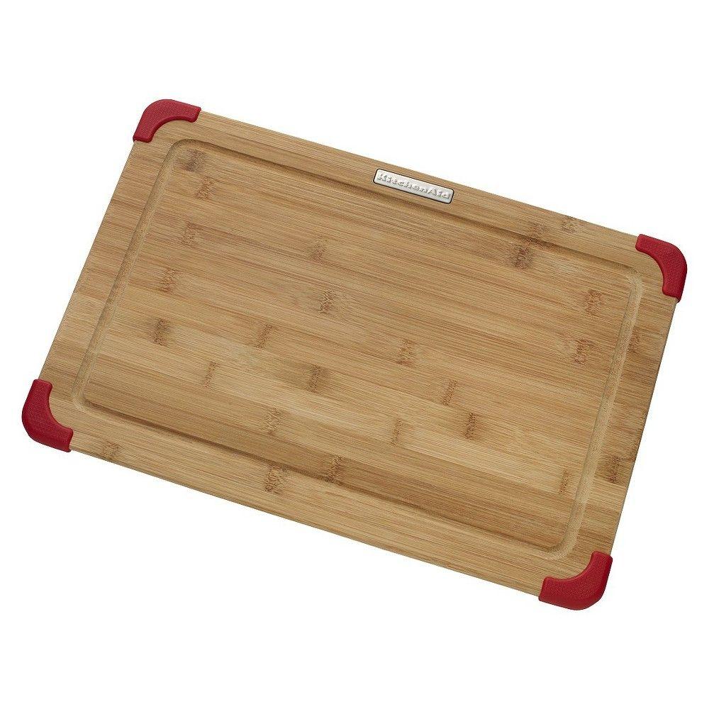 "KitchenAid 12"" x 18"" Bamboo Cutting Board - Brown/Red"