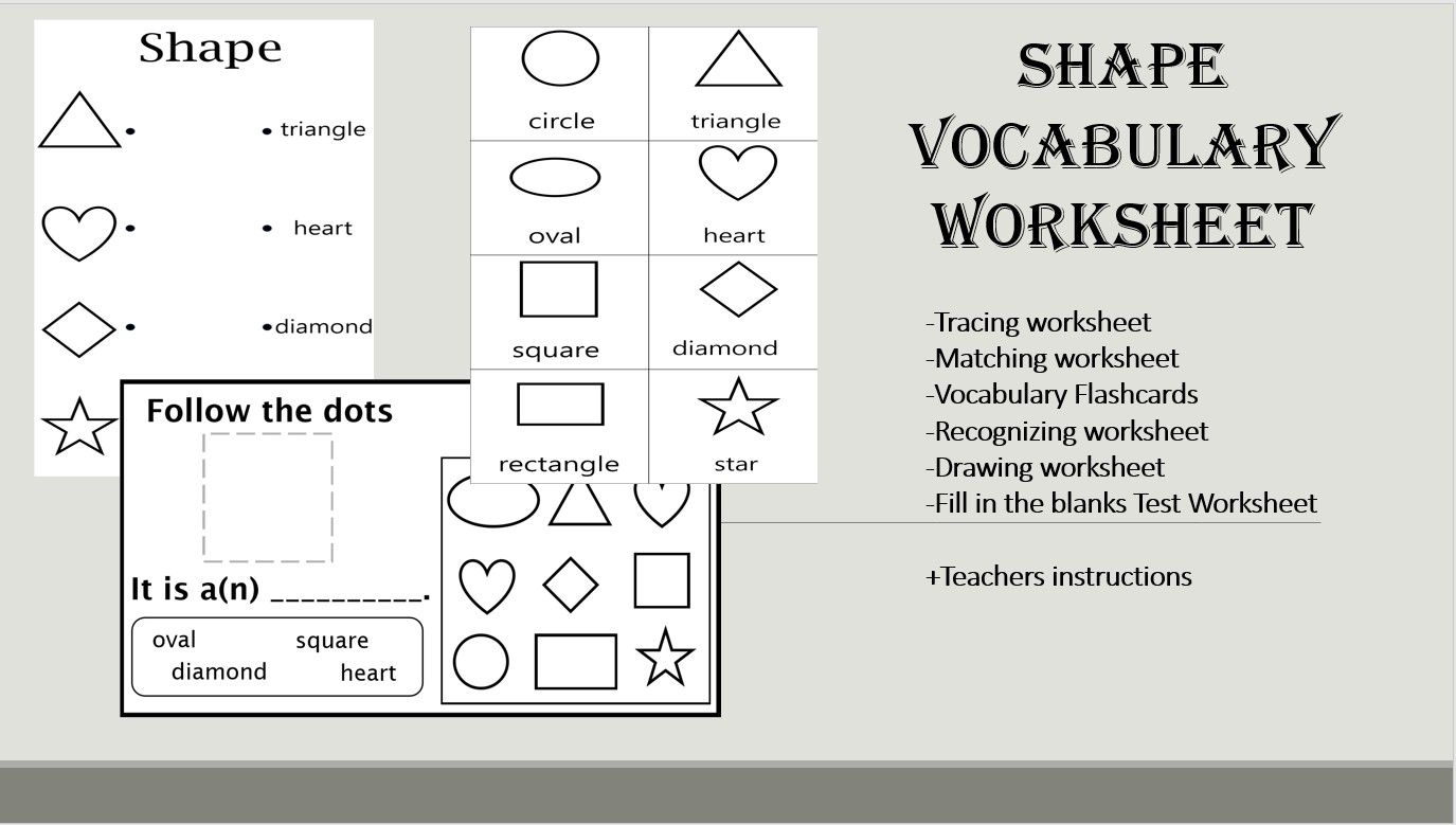 Shape Vocabulary Worksheet You Can Download This Worksheet