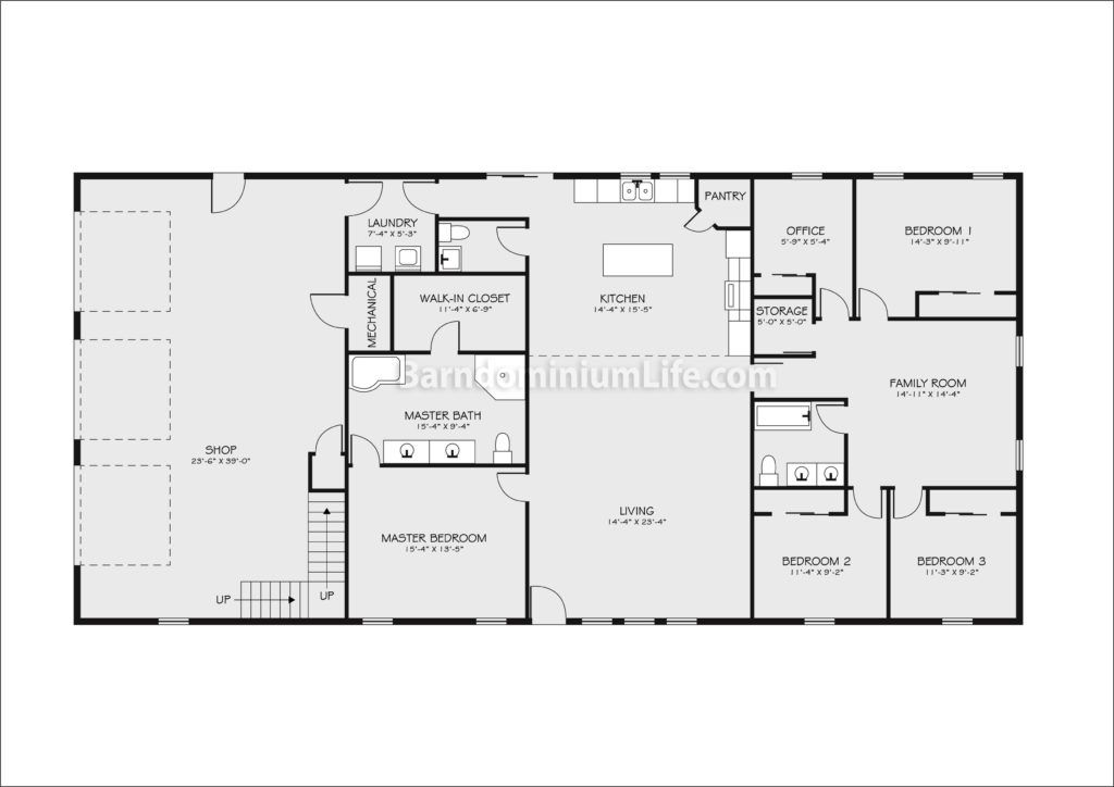 Barndominium Floor Plans with Shop Top Ideas Floor Plans and Examples