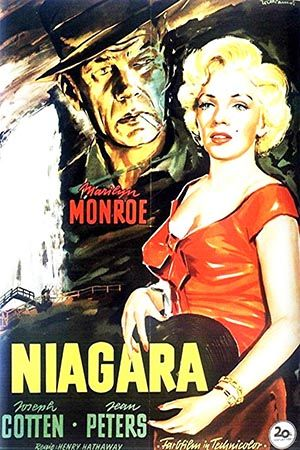 1953: Marilyn Monroe movie poster for the film Niagara, starring Joseph Cotton, Jean Peters & Max Showalter