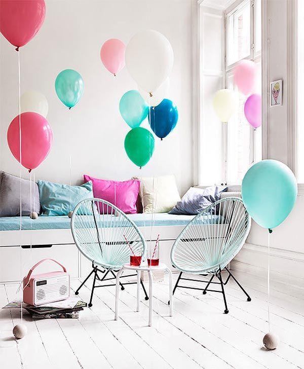 Unos cuantos globos de colores pueden ser la mejor decoración para ...