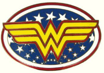 Wonder Woman belt buckle.