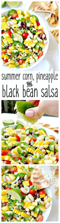 cool Summer Corn, Pineapple and Black Bean Salsa - The Glowing Fridge
