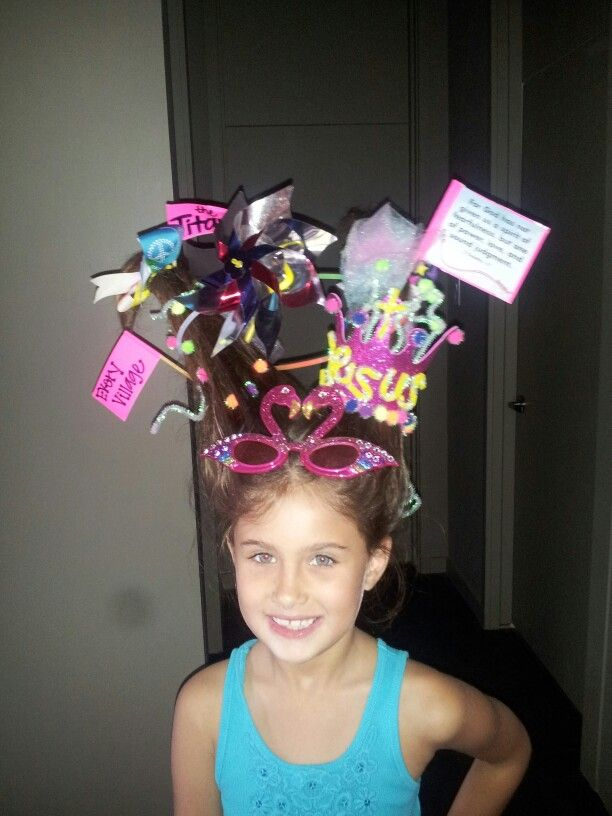VBS  Crazy Rollercoaster hair day  Crazy hair days