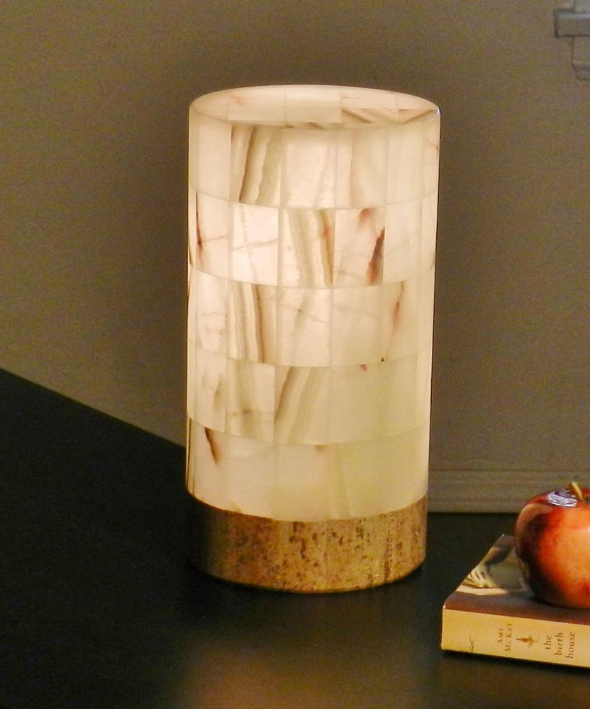 table lamp onyx alabaster vtg stone rustic nightstand. Black Bedroom Furniture Sets. Home Design Ideas